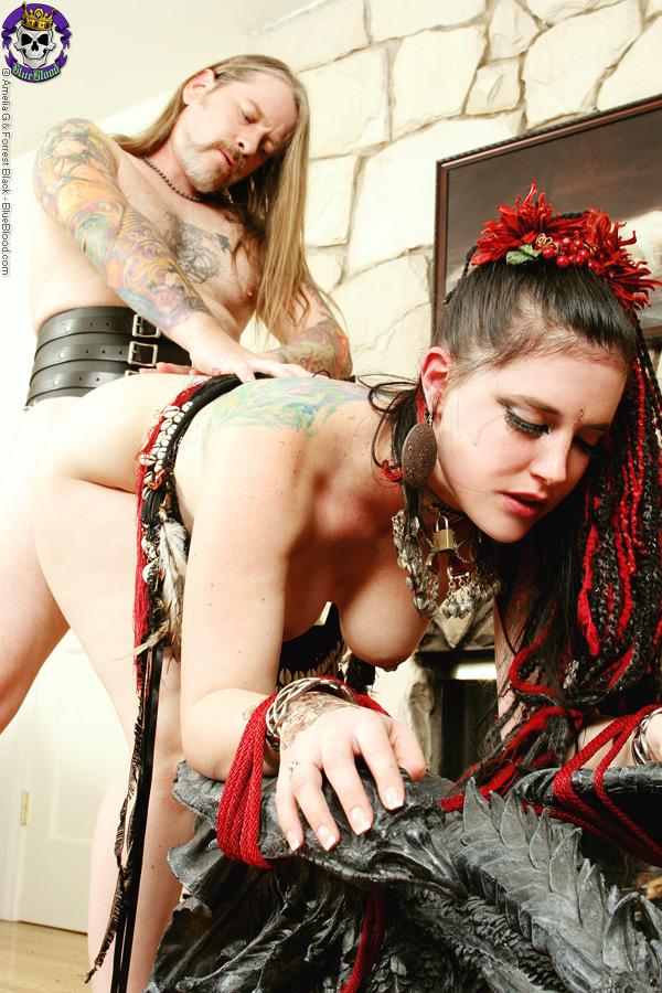 Gothic wench slut