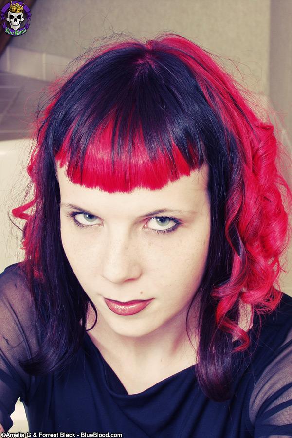 Szandora Spooky Goth babe shows her great body