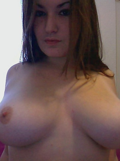 Kaylas huge perky tits are gonna to pop out of her tight black bra